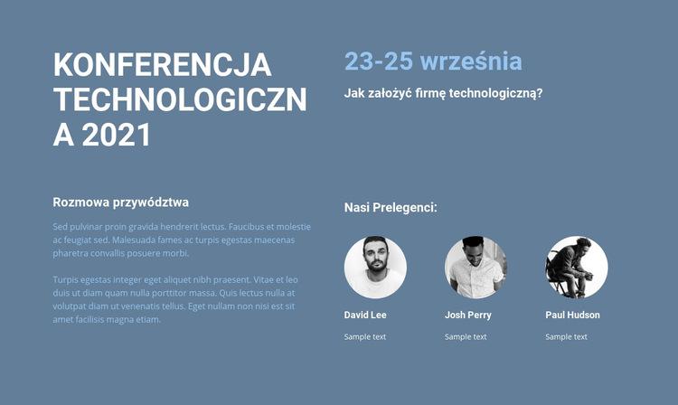 Konferencja technologiczna Szablon witryny sieci Web