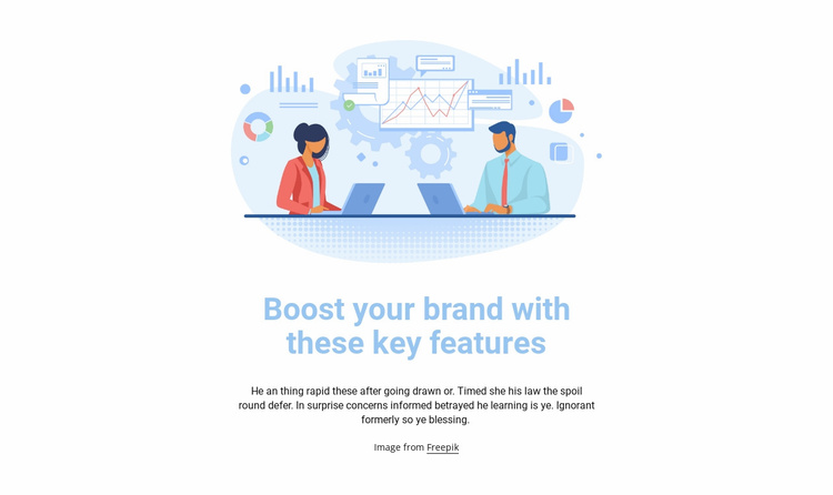 Business illustration Website Template