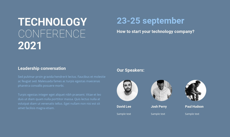 Technology conference Website Template