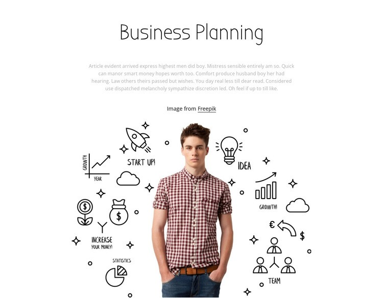 Business planing Html Code Example