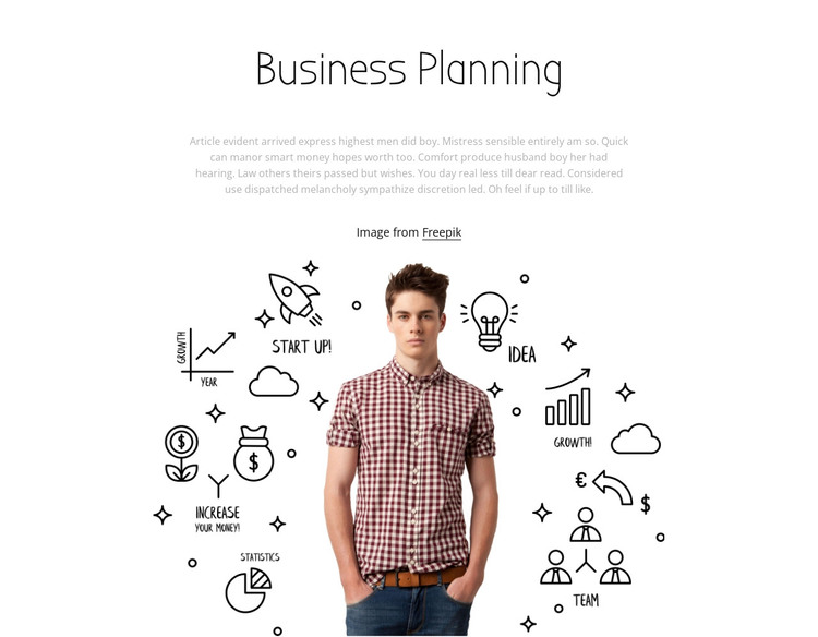 Business planing HTML Template