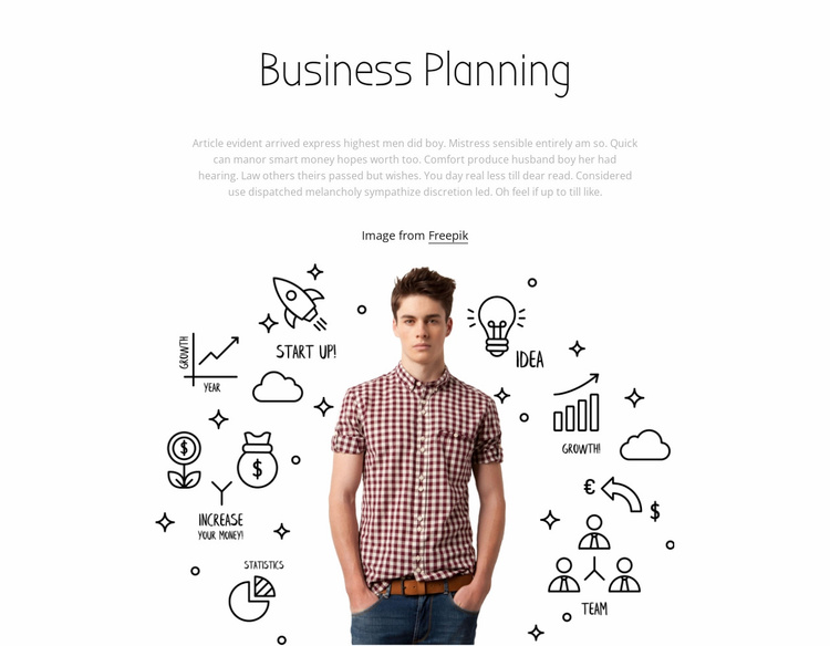 Business planing Website Template