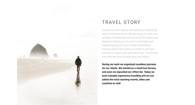 Travel east HTML Template