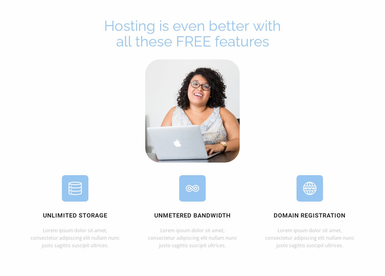 Best hosting Website Template