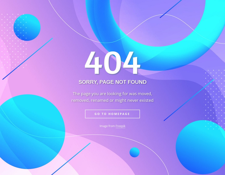 Page not found block Joomla Template