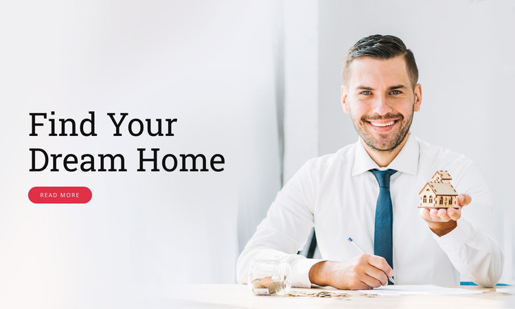 Finding and buying the ideal home Website Design