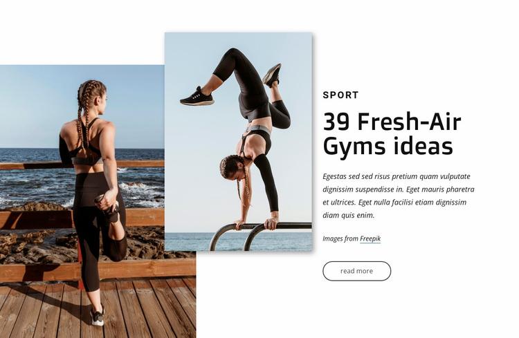Fresh-air gyms ideas Website Template