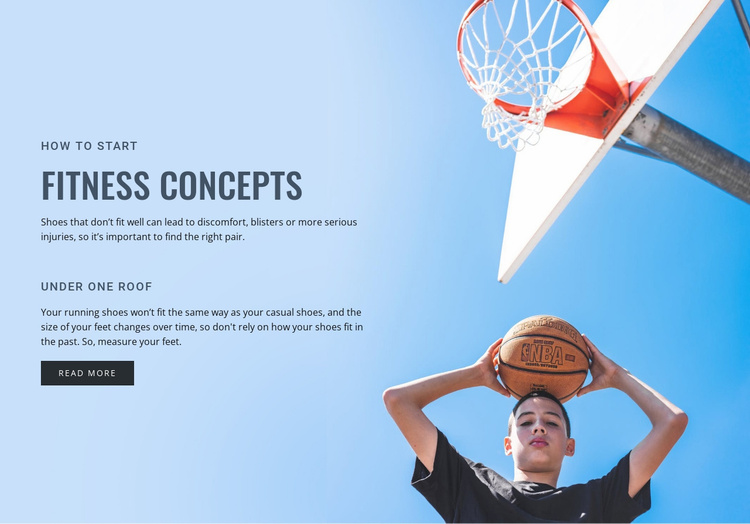 Fitness concepts Website Template