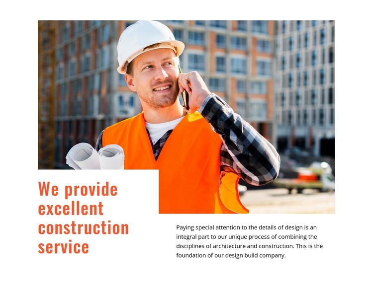 Excellent construction service HTML Template