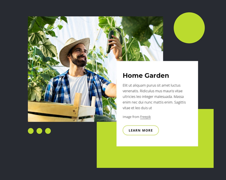 Home garden One Page Template