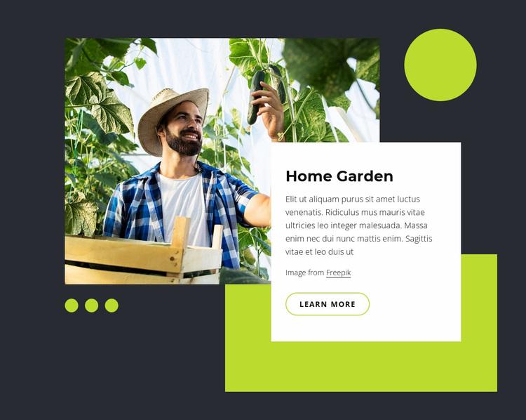 Home garden Website Design