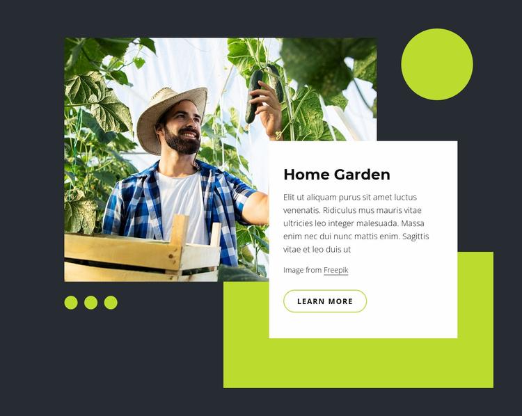 Home garden Website Template