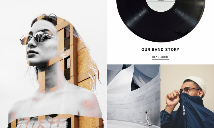 Our band story Website Template