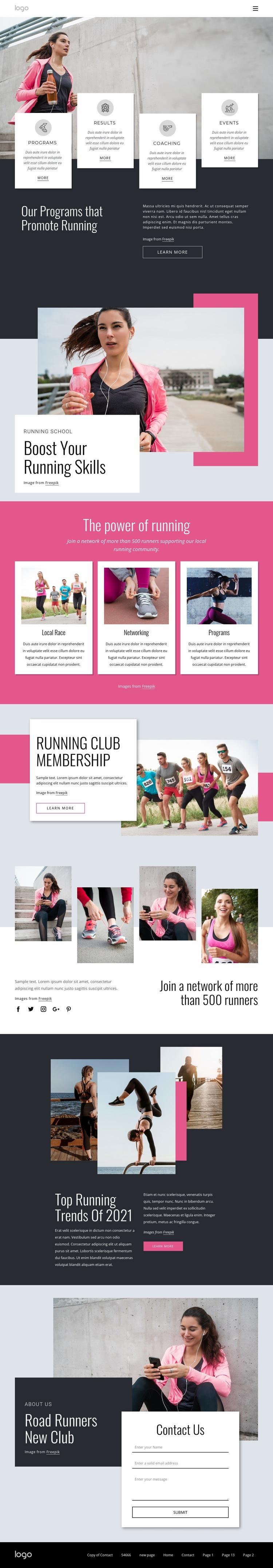 Running and walking community Html Code Example
