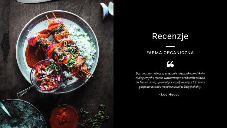Recenzje restauracji Szablon Joomla