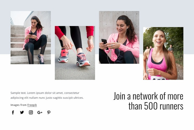 Run for a healthier life Web Page Designer