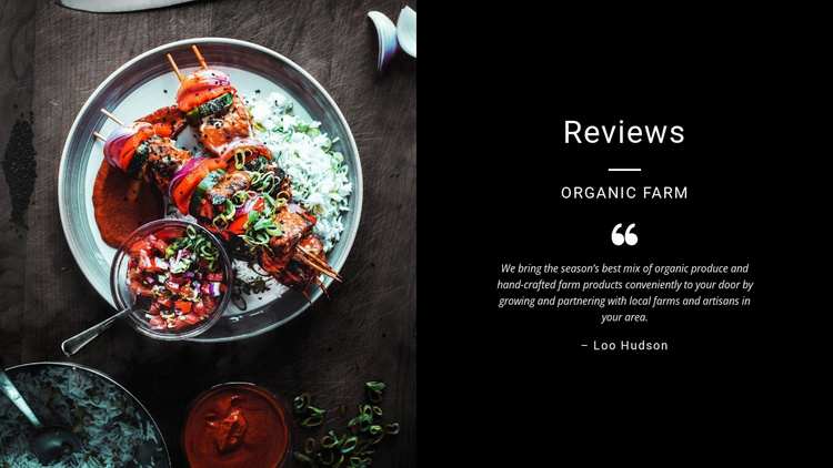 Restaurant Food And Menu Web Design