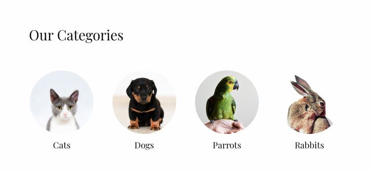 Domestic animals shop Website Builder