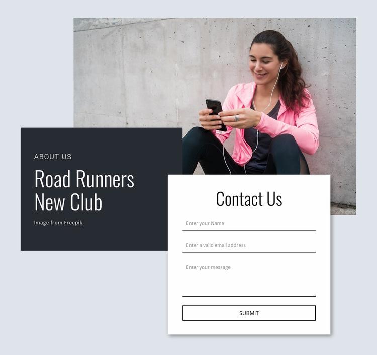 Road runners Website Template
