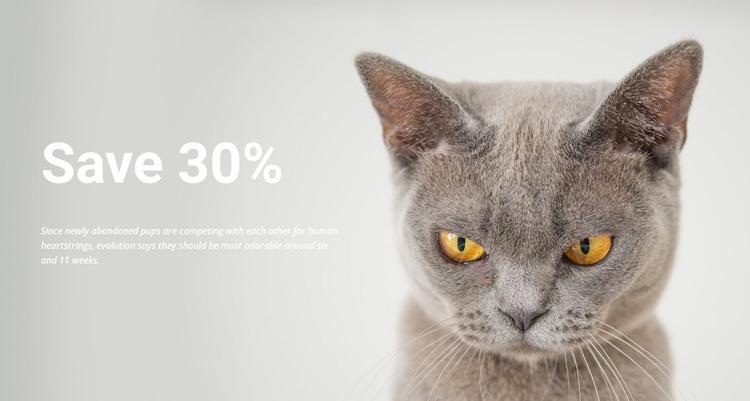 pet shop Website Template