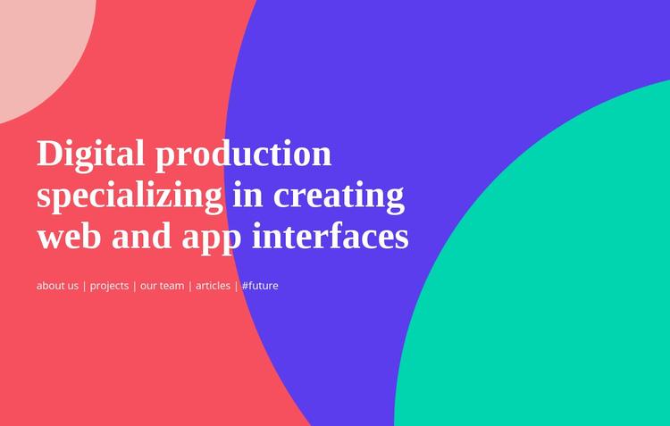Build a simple user interface Website Builder Software