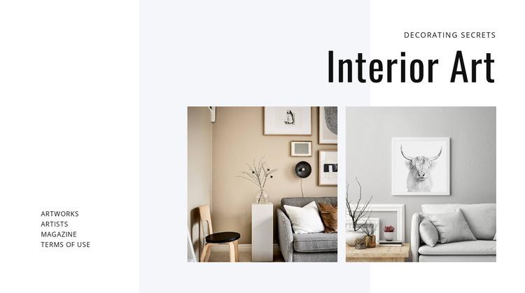 Modern art in interiors HTML5 Template