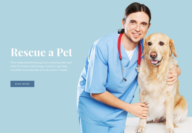 Veterinary health care HTML Template