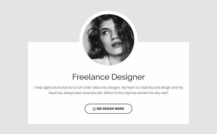 Freelance people Website Mockup