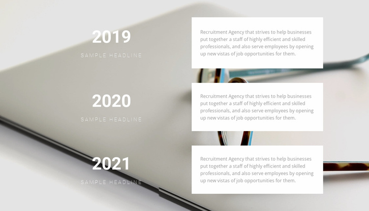 Statistics by year Website Template