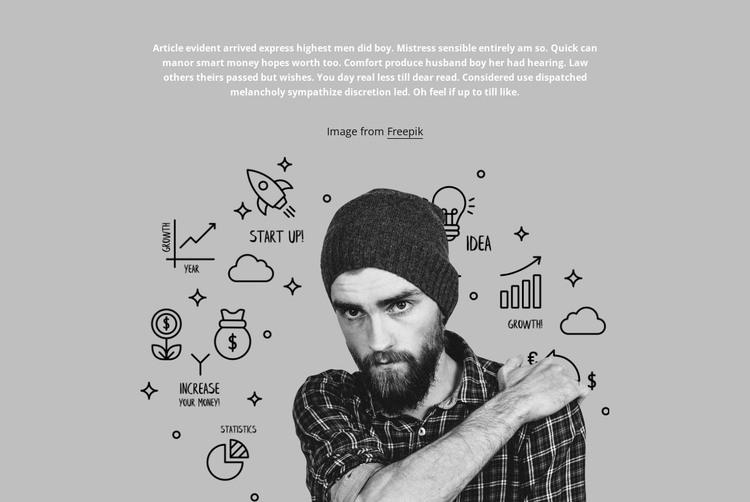 Among a thousand ideas HTML Template
