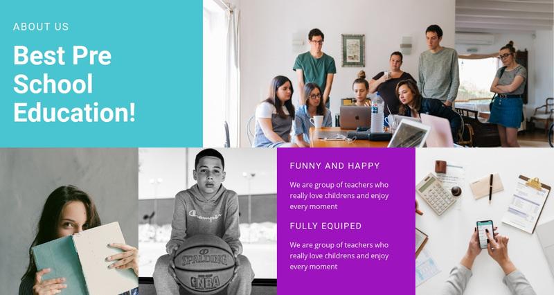 Pre school education  Web Page Design