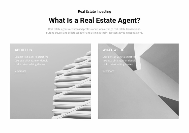 Find a real estate agent Website Template