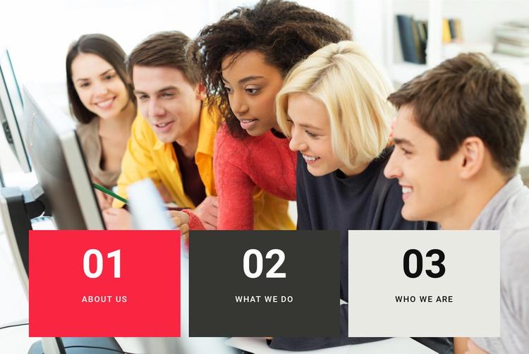 Faculties in college Website Template