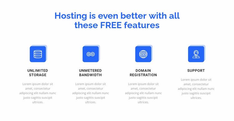4 hosting features Website Builder Templates