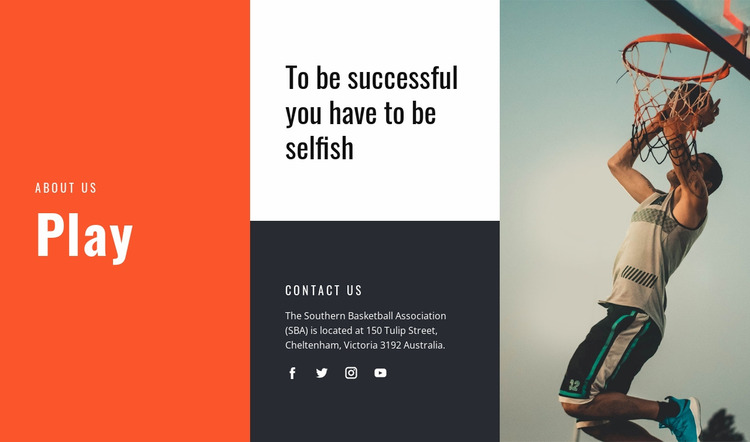 Importance of sports to health Website Mockup