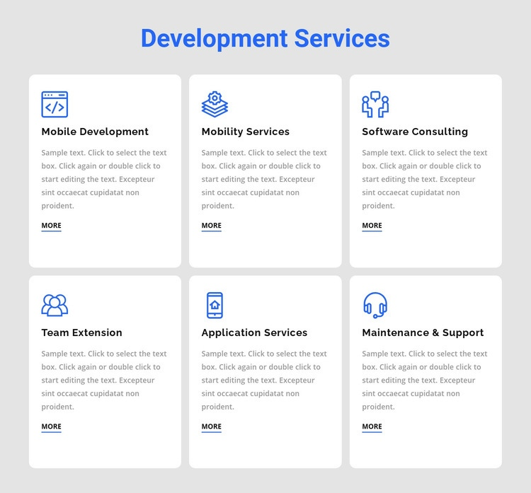 Development services Html Code Example