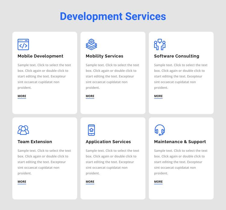 Development services Web Design