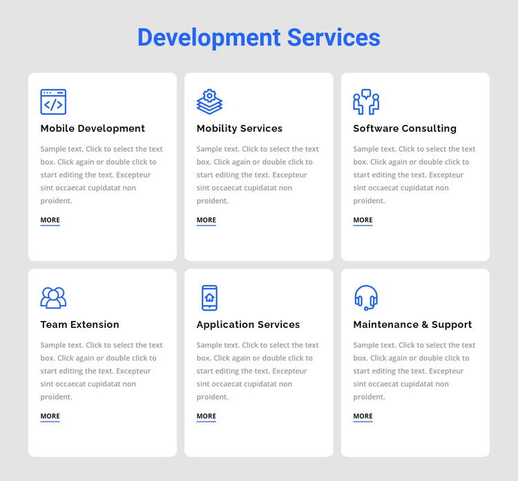 Development services WordPress Theme