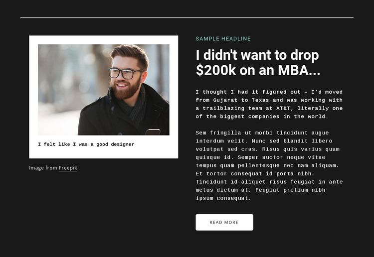 Image and text WordPress Theme