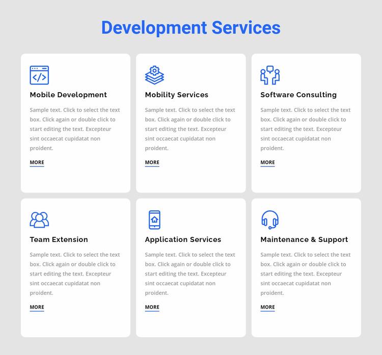 Development services WordPress Website Builder