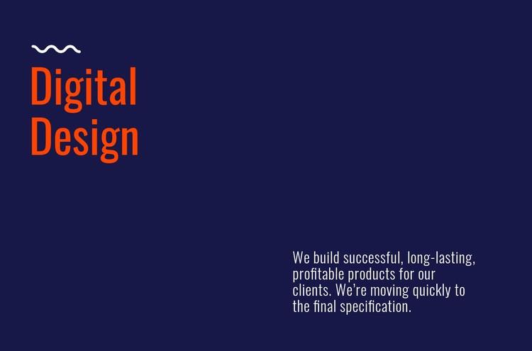Digital design lab CSS Template