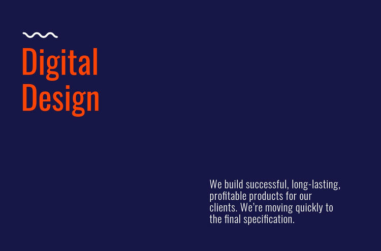 Digital design lab One Page Template