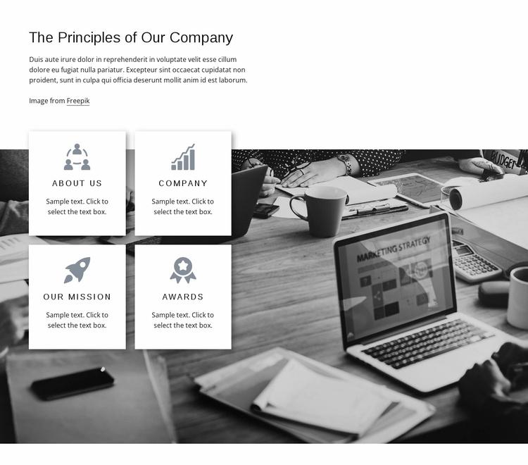 Company principles Website Template