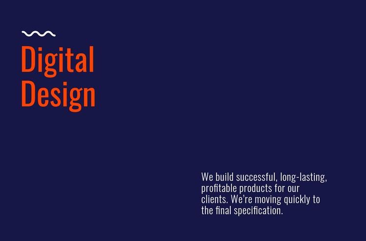 Digital design lab WordPress Template