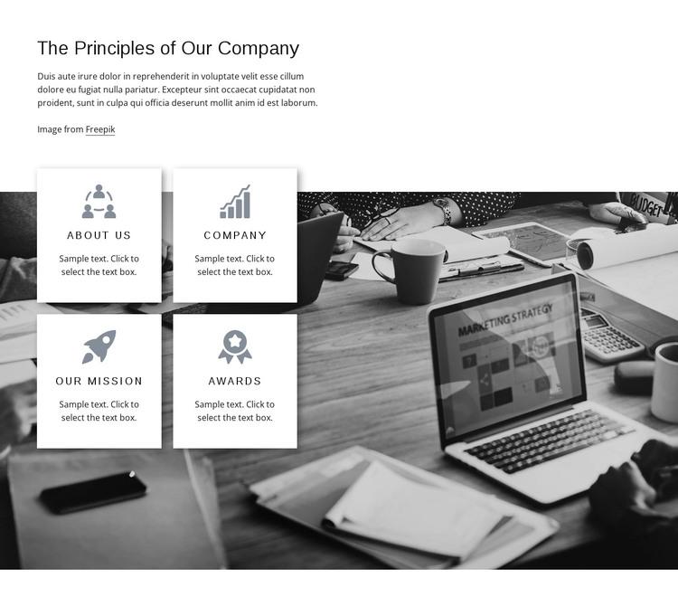 Company principles WordPress Theme