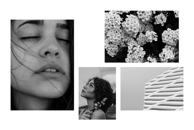 Beautiful black and white photo HTML Template