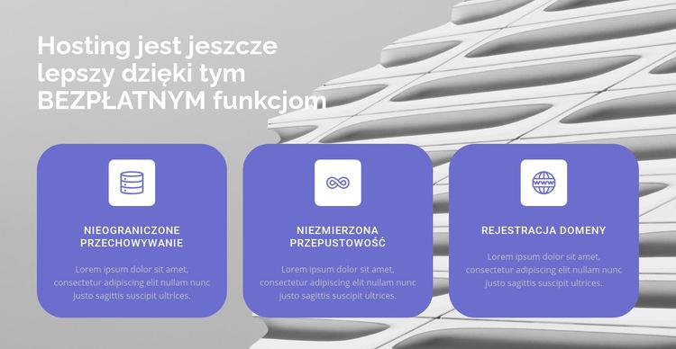 Trzy kierunki w naszej pracy Szablon witryny sieci Web