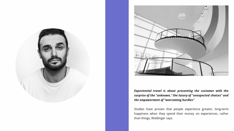 The architect and his project Website Template