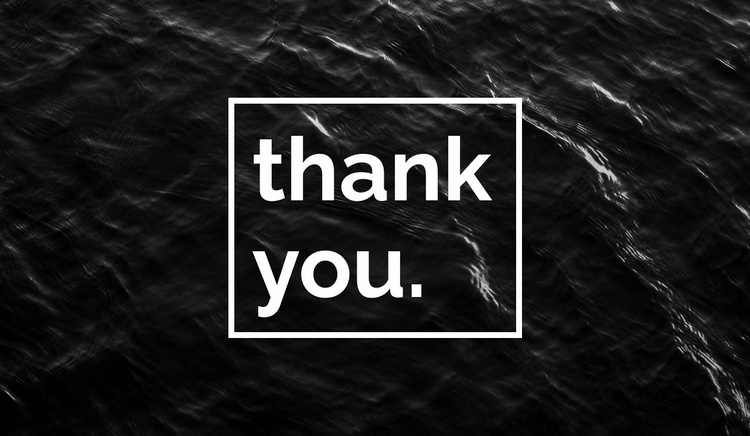 Thank you Website Template