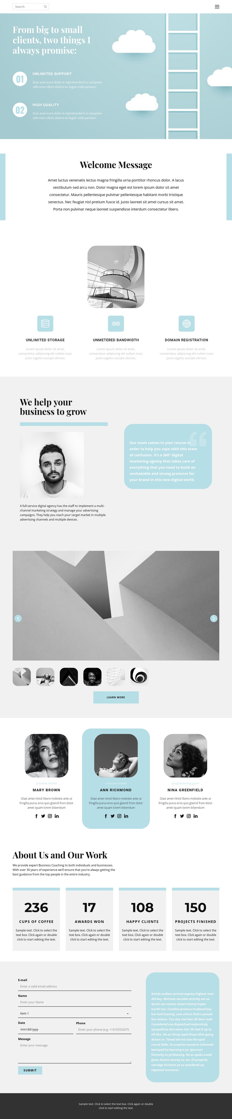 Help in starting a project HTML Template